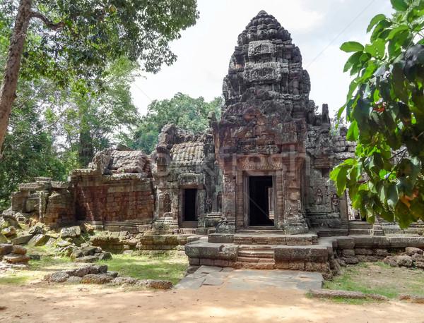 Templo angkor pormenor Camboja árvore viajar Foto stock © prill