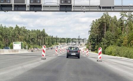 шоссе дорожное строительство декораций автострада Солнечный лет Сток-фото © prill