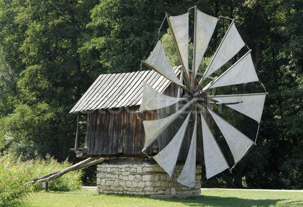windmill in Romania Stock photo © prill
