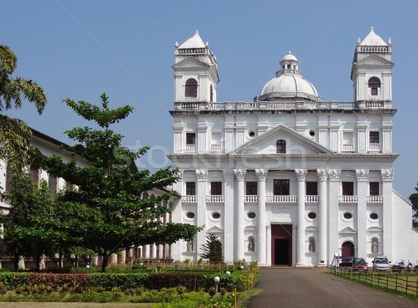 Templom szent bent öreg Goa kő Stock fotó © prill