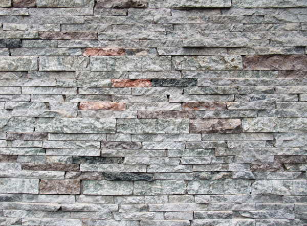 Stock photo: layered stone wall