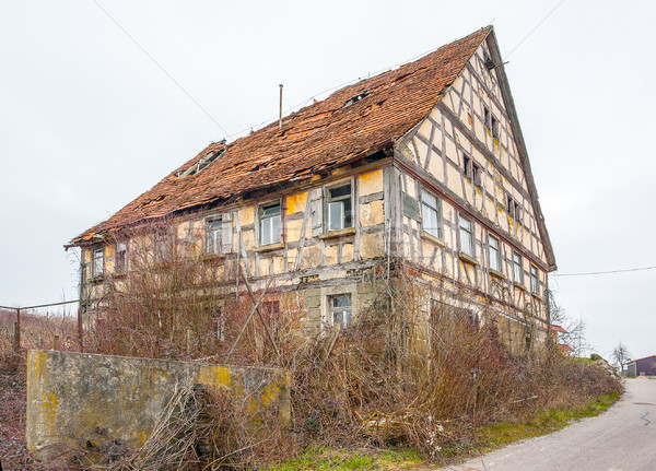 rundown old farmhouse Stock photo © prill