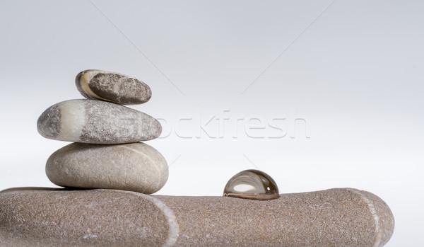 石 アレンジメント 流体 ドロップ ストックフォト © prill