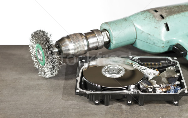 hdd and grinder Stock photo © prill