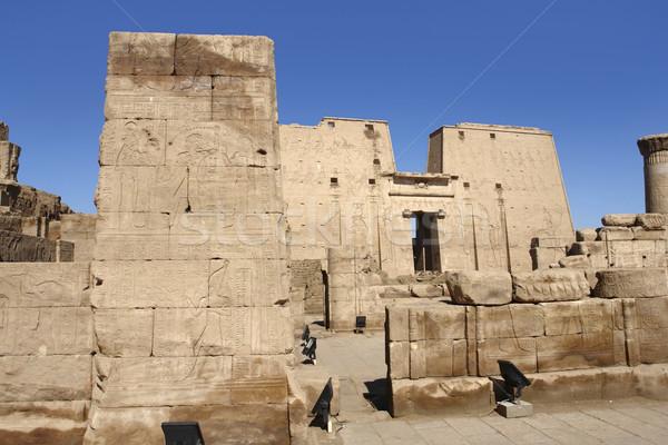 Temple of Edfu in Egypt Stock photo © prill