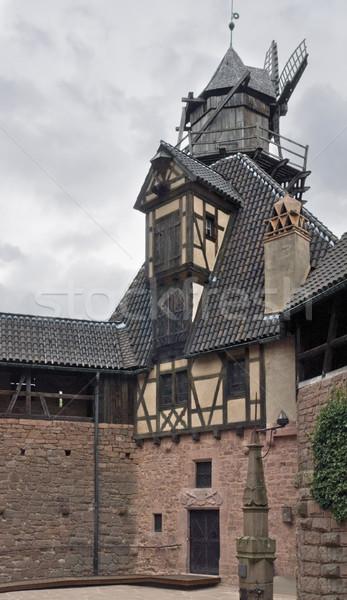 in the Haut-Koenigsbourg Castle Stock photo © prill