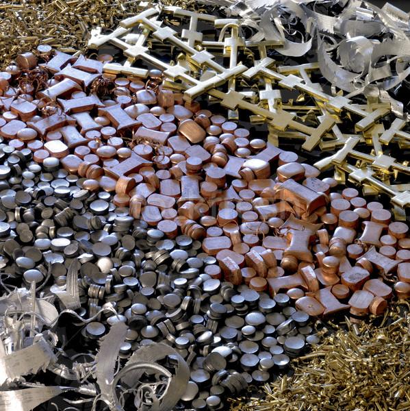 various metal back Stock photo © prill