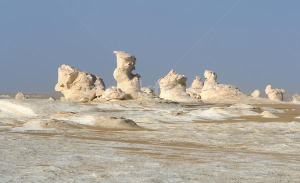 Mısır beyaz çöl kaya oluşumu doğa manzara Stok fotoğraf © prill