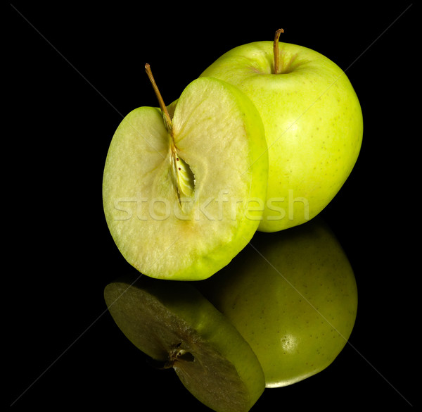 apple on reflective ground Stock photo © prill