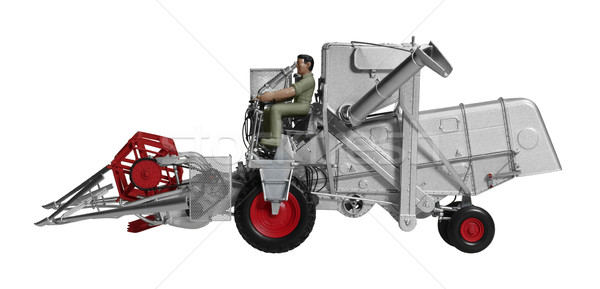 nostalgic combine harvester toy Stock photo © prill