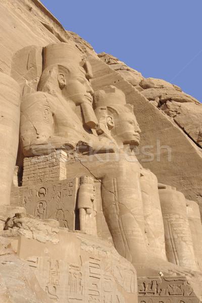 Steen Egypte historisch afrika groot Stockfoto © prill