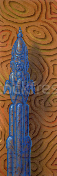 blue transparent figure in abstract back Stock photo © prill