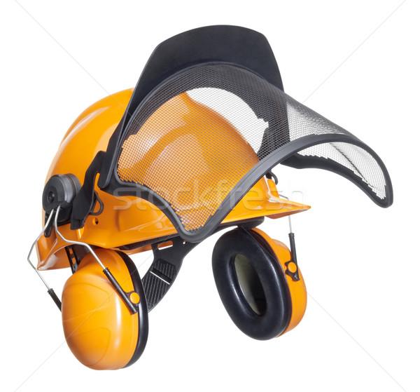 protective helmet in white back Stock photo © prill