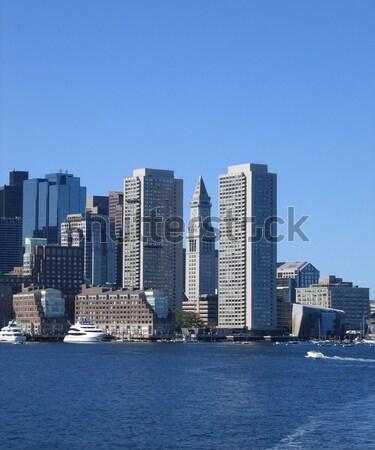 Stock photo: Boston skyline detail at summer time