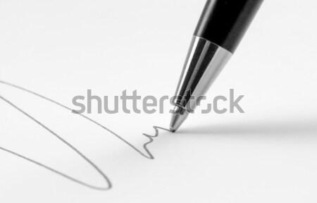 Photo stock: Pointe · dessin · ligne · lumière · Retour