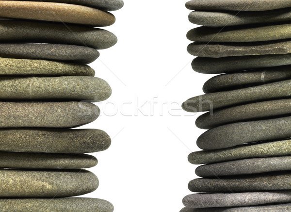 stacked flat pebbles Stock photo © prill