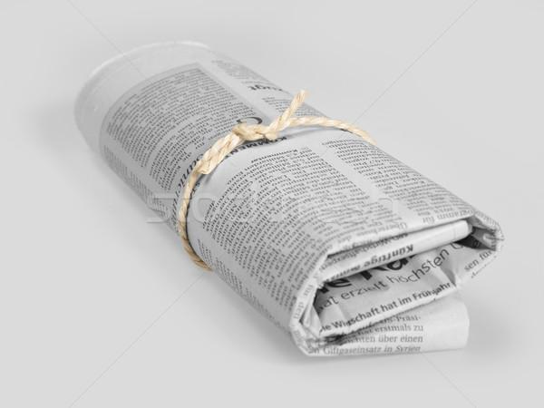 Periódico gris atrás comunicación impresión Foto stock © prill
