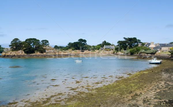 Rose granit côte été paysages plage Photo stock © prill