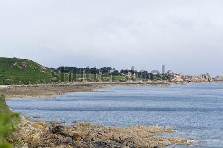 Stok fotoğraf: Etrafında · manzara · pembe · granit · sahil · su