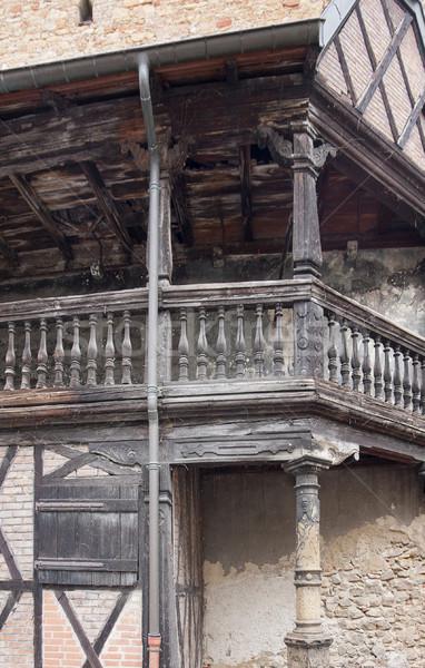 historic balcony Stock photo © prill