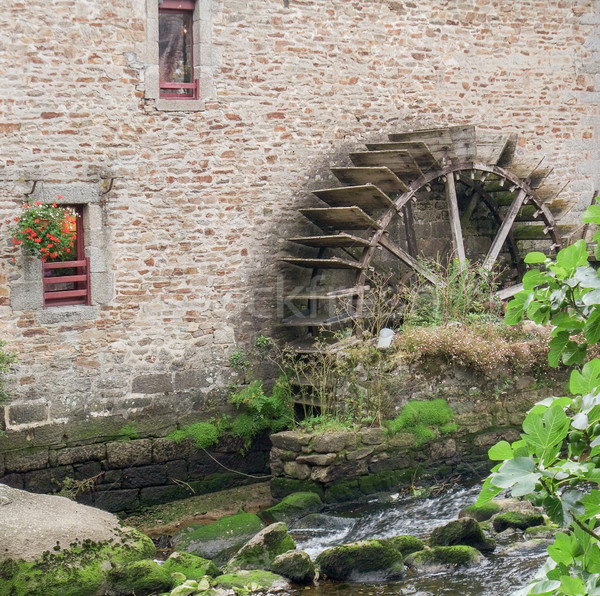 water wheel at Pont-Aven in Brittany Stock photo © prill