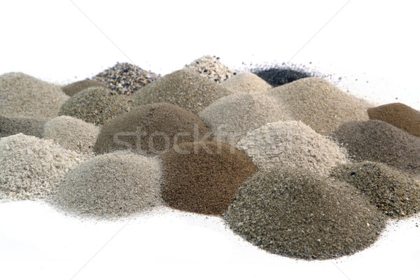 various brown toned sand piles together Stock photo © prill