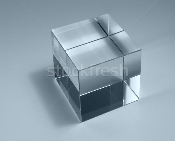 Solido vetro cubo fisica studio fotografia Foto d'archivio © prill