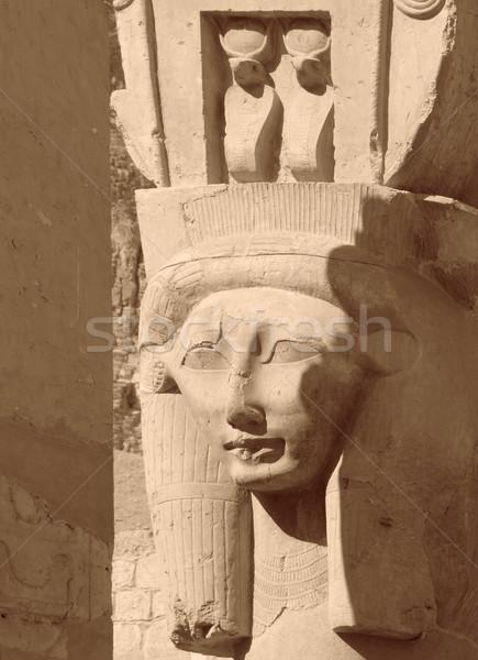 Sculptuur detail steen Egypte afrika god Stockfoto © prill