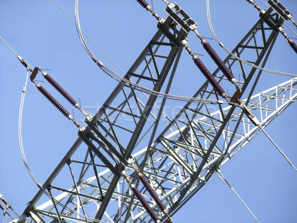 power line detail Stock photo © prill