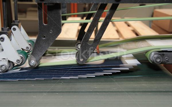 Gép részlet nyomtatott termékek papír ipar Stock fotó © prill