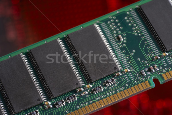 コンピュータ メモリ クローズアップ 赤 デジタル カード ストックフォト © prill