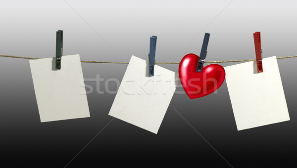 clothesline and labels Stock photo © prill