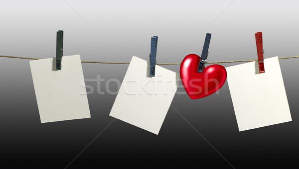 Waslijn witte vast kleding helling Stockfoto © prill