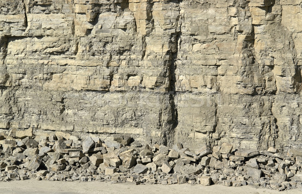light brown stone pit wall Stock photo © prill