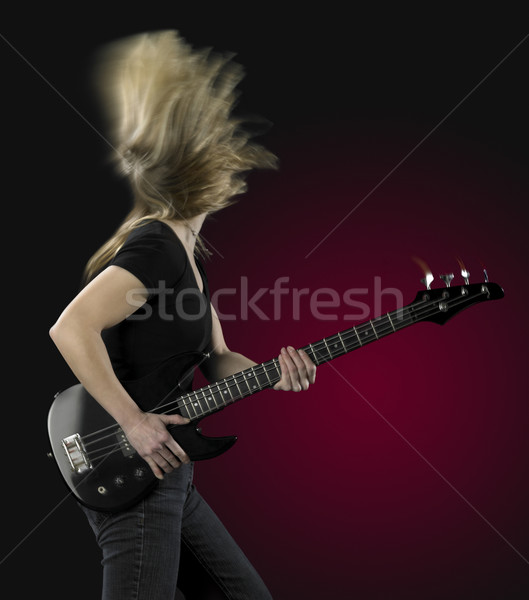 playing bass guitar Stock photo © prill