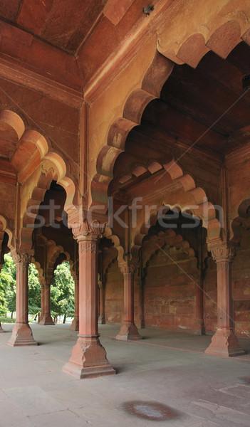 Rood fort Delhi Indië muur Stockfoto © prill