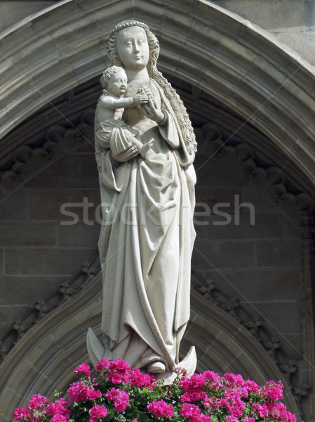 Mary and child statue Stock photo © prill