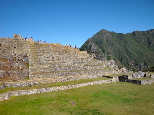 Machu Picchu oude stad Peru berg Stockfoto © prill