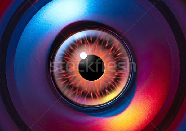 Vreemdeling oog kleurrijk verlicht Open wetenschap Stockfoto © prill