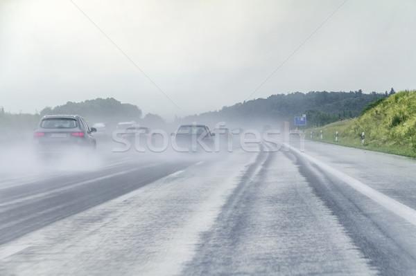 wet highway scenery Stock photo © prill