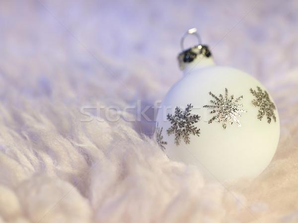 white Christmas bauble Stock photo © prill