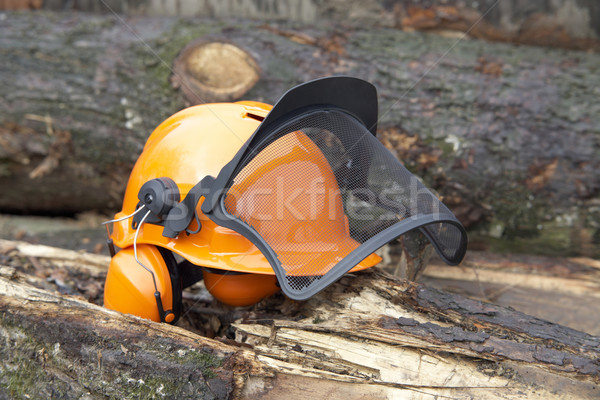 protective helmet outdoor shot Stock photo © prill