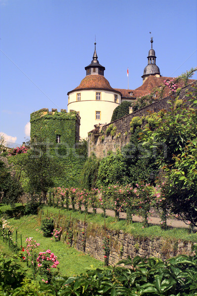 castle Langenburg at summer time Stock photo © prill