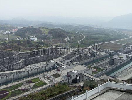 Three Gorges Dam at Yangtze River Stock photo © prill