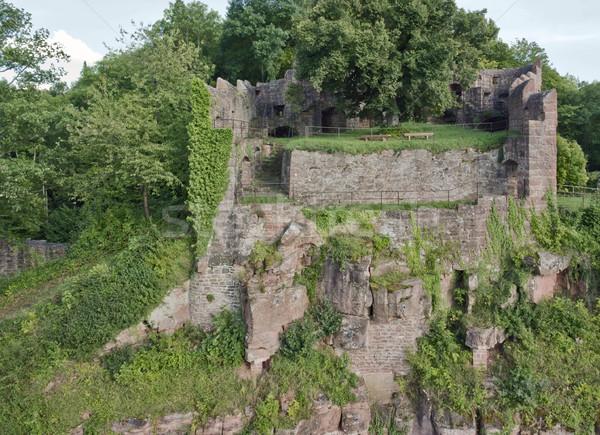 のどかな 風景 周りに 城 ドイツ ストックフォト © prill