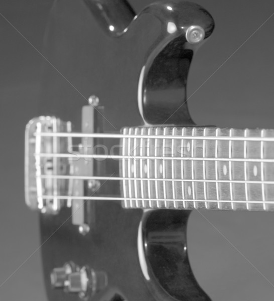 Siyah bas gitar detay karanlık geri Stok fotoğraf © prill
