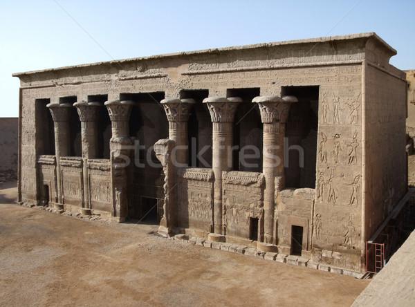 Stockfoto: Oude · tempel · zonnige · landschap · kunst · afrika