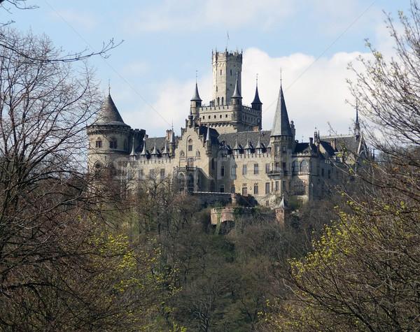 замок снизить каменные архитектура башни средневековых Сток-фото © prill