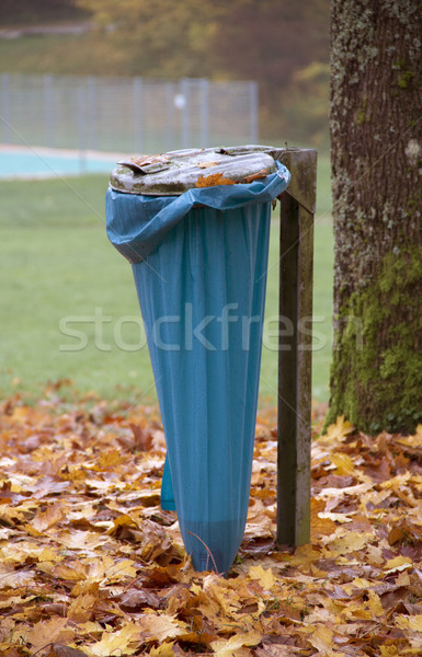 autumn scenery with refuse sack Stock photo © prill