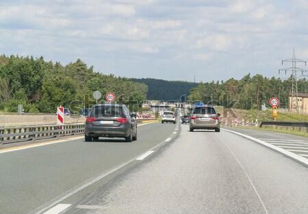 Zwischenstaatlichen Landschaft Deutschland Autobahn Straße südlich Stock foto © prill